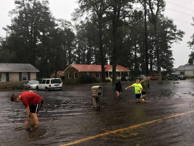 Hurricane Florence is one of the largest storms to hit the Carolinas in years and has ignited a massive response from emergency services. Picture: Anthony Ballard/AFP