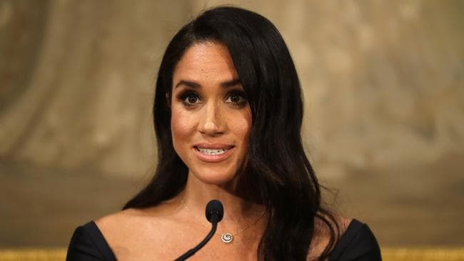Meghan also gave a speech on the 125th anniversary of New Zealand women getting the vote. Picture: Kirsty Wigglesworth