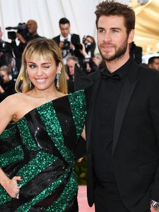 Miley Cyrus and Liam Hemsworth. Picture: Getty