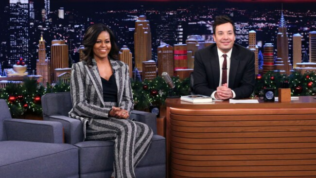 Michelle Obama appeared on 'The Late Show With Jimmy Fallon'. Source: Getty Images