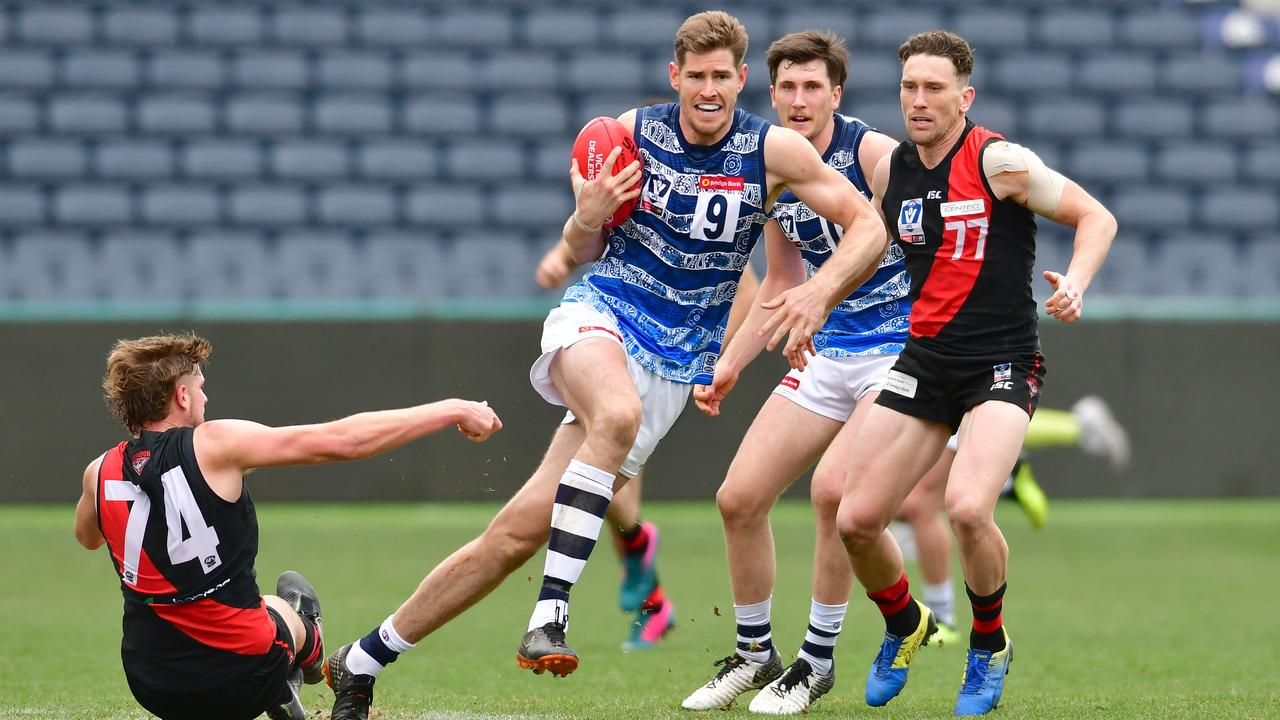 Zac Smith bursts out of the centre in a VFL game this year. Picture: Stephen Harman