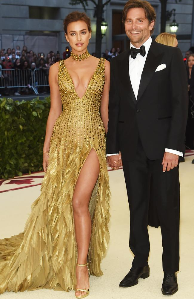 Irina Shayk and Bradley Cooper attend the Heavenly Bodies: Fashion & The Catholic Imagination Costume Institute Gala at The Metropolitan Museum of Art. Picture: Getty