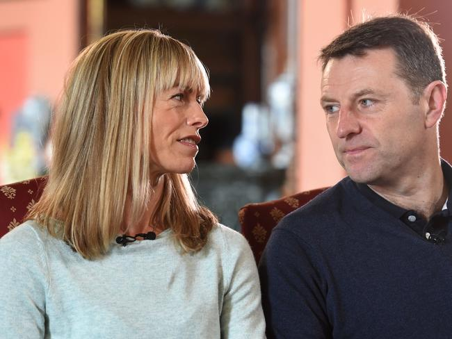 Kate and Gerry McCann, whose daughter Madeleine disappeared from a holiday flat in Portugal ten years ago. Picture: AFP