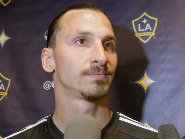 Zlatan Ibrahimovic barely cracked a smirk after dropping the line.