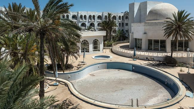A spate of terrorist attacks in Tunisia in 2015 hit the resorts hard, and many of them were abandoned. Picture: Bob Thissen/Caters News Agency