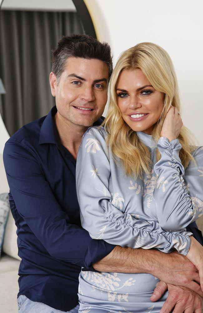Sophie Monk and Bachelorette winner Stu Laundy pictured last year. Picture: Justin Lloyd.