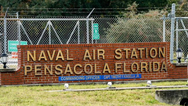 The Pensacola Naval Air Station. Picture: Josh Brasted/Getty Images/AFP