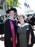 Head of Business School Economics Melanie Bryant and Events Protocol Belinda Brock at the UTAS Graduation at Burnie. PICTURE CHRIS KIDD