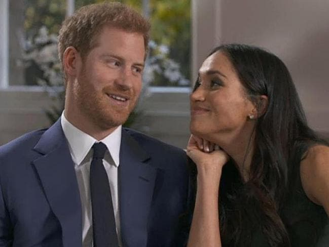 The couple were clearly loved up during an interview on British television. Picture: Supplied