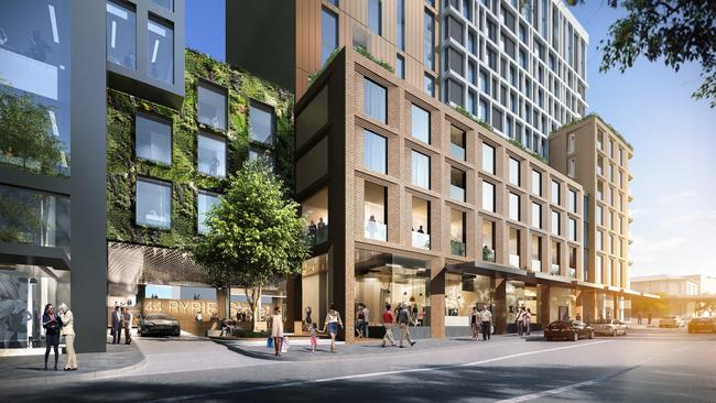 What the street frontage will look like.