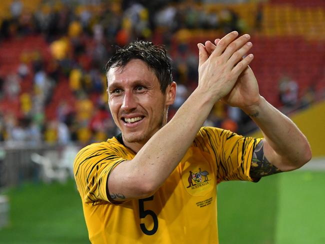Mark Milligan will take the captain's arm band for the Asian Cup.
