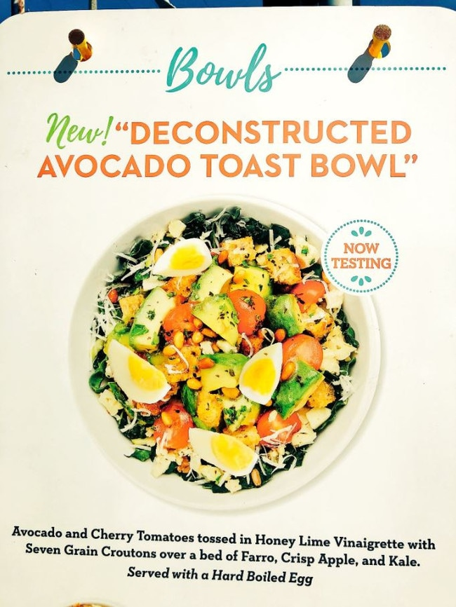 This avocado toast 'bowl' looks pretty similar to another common dish. Picture: Kara Swisher/Twitter
