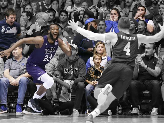 Bain's basket sparked pandemonium.