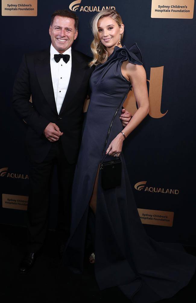 Karl Stefanovic and Jasmine Stefanovic at the annual Gold Dinner at Fox Studios in May. Picture: Mark Metcalfe/Getty Images