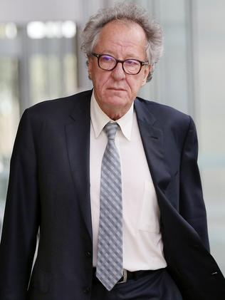 Geoffrey Rush at the Supreme Court in Sydney last week. Picture: Richard Dobson