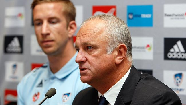 Sydney FC coach Graham Arnold has remodelled the Sky Blues on and off the field.