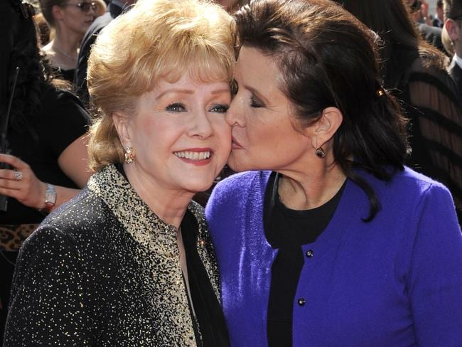 Debbie Reynolds and Carrie Fisher had a tumultuous relationship. Picture: AP