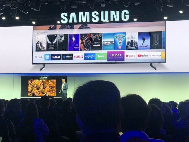 You can now find iTunes on a Samsung TV. What has the world come to?