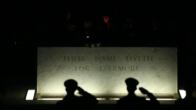 The Dawn Service Australian War Memorial in Canberra. Picture: Gary Ramage