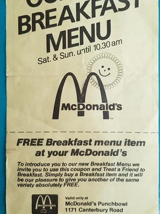 The voucher was valid until March 1987. Picture: Chad Bonello