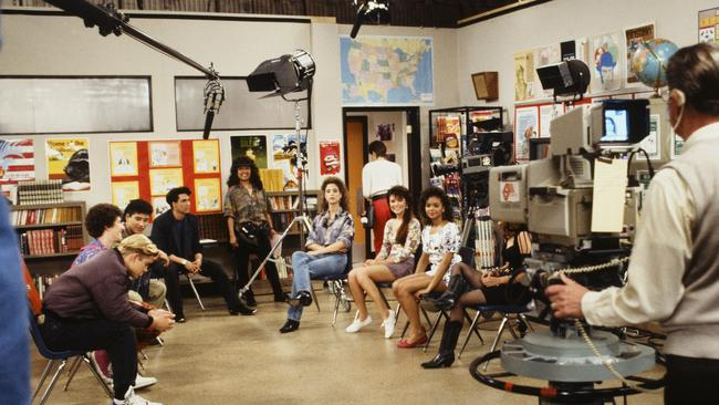 Behind the scenes of filming Saved by the Bell.
