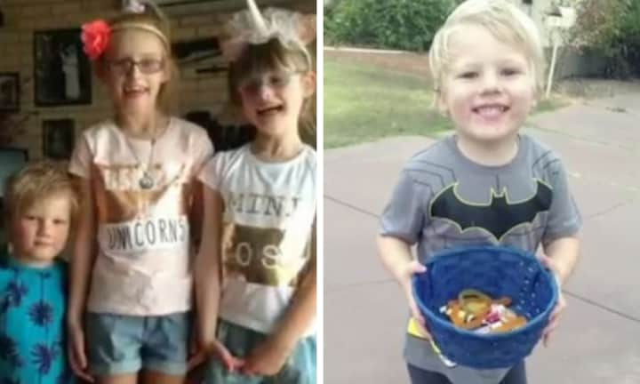 The little boy was playing outside with his two sisters when the accident took place. Source: 7NEWS