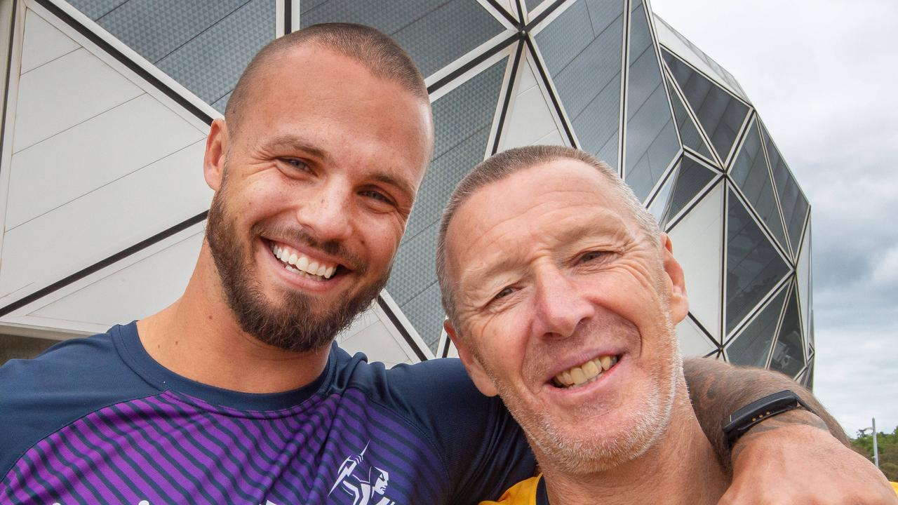 Craig Bellamy and Sandor Earl having their heads shaved for charity.