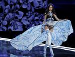 Model Blanca Padilla wears a creation during the Victoria's Secret fashion show at the Mercedes-Benz Arena in Shanghai, China, Monday, Nov. 20, 2017. Picture: AP Photo/Andy Wong