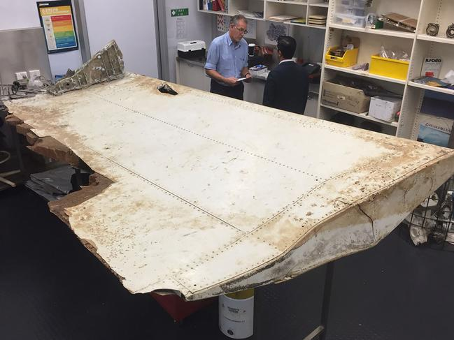 Debris found in Tanzania confirmed part of a wing flap from missing MH370. Picture: Australian Transport Safety Board