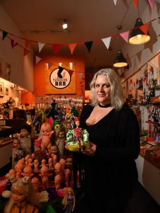 Gin Kalleske in her quirky gift and homewares shop — The Tangerine Fox. (AAP Image/Keryn Stevens)