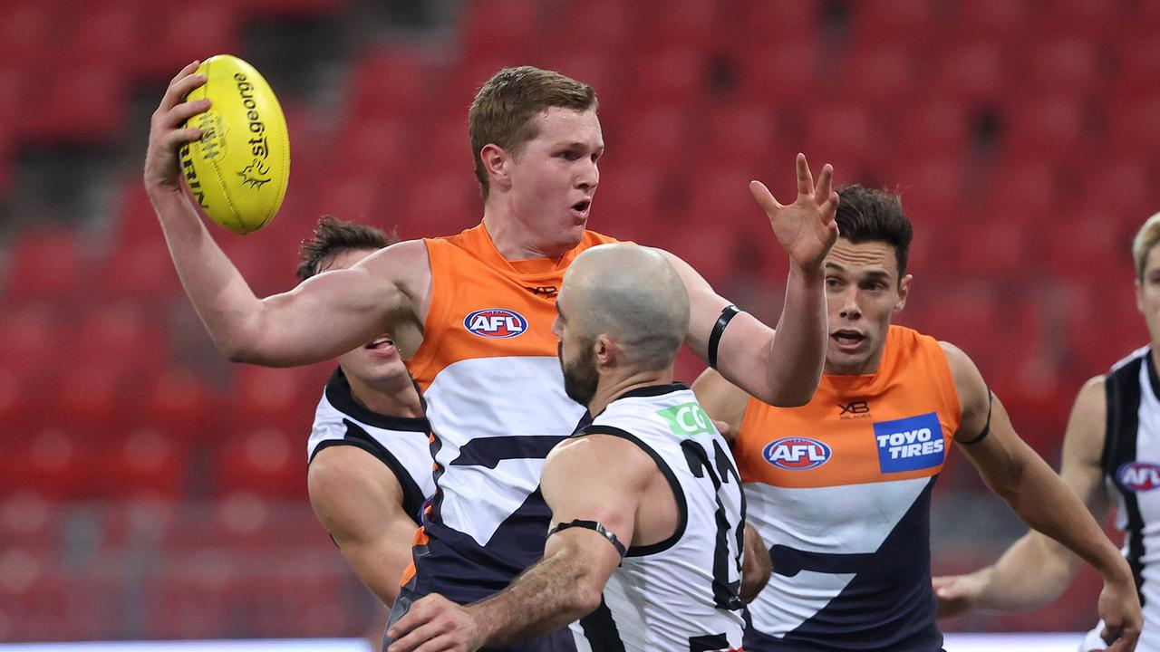Giant Tom Green starred in his side's win over Collingwood. Picture: Phil Hillyard