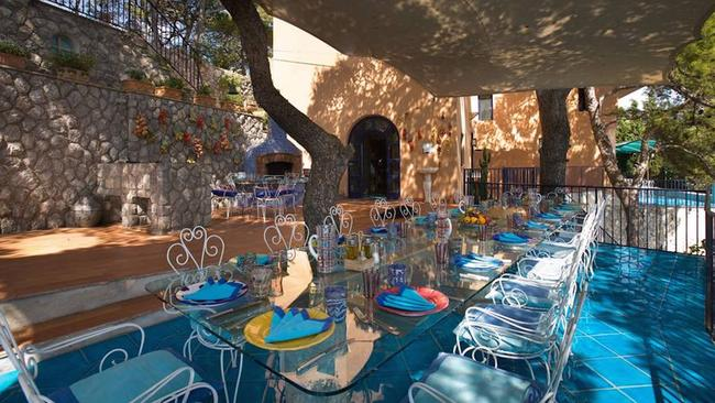A lovely spot to enjoy a family meal. Picture: LuxuryItalianIsland.com