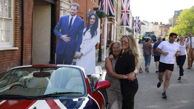 Cardboard cut-outs everywhere. Photo: AFP/Odd Andersen