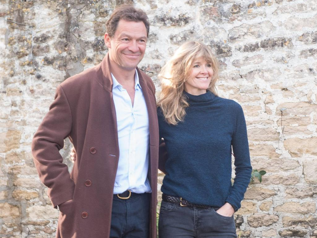 Days after he was pictured kissing Lily James, Dominic West fronted the cameras with his wife Catherine FitzGerald. Picture: GlosPics/MEGA/GC Images