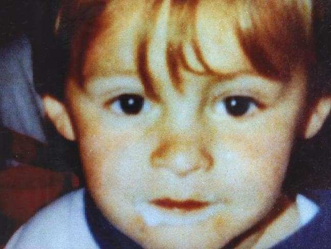 Two-year-old James Bulger was brutally murdered by two 10-year-olds. Picture: Supplied