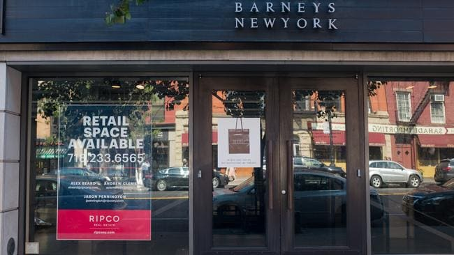 An already shuttered Barneys store in Brooklyn, closed following the chain's bankruptcy in August 2019. Picture: Epics/Getty.