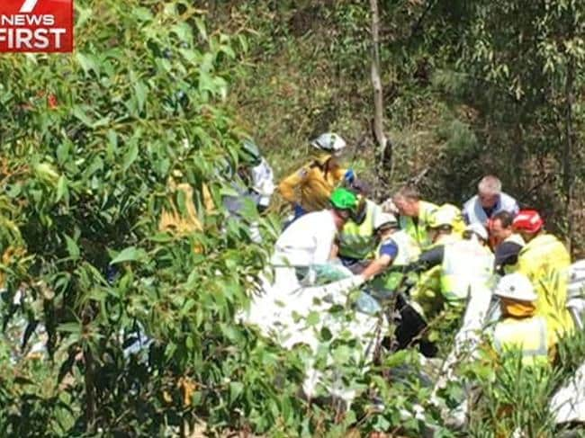 The rescue was described as extensive and difficult. Picture: Seven News