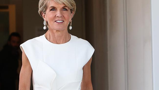 Julie Bishop on her way out of Parliament House in Canberra. Picture: Kym Smith