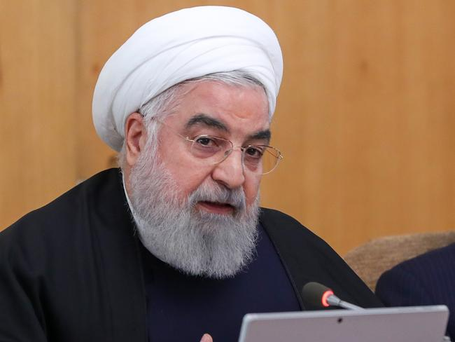 Iranian president Hassan Rouhani raised the spectre of the Lockerbie bombing in his cryptic tweet below. Picture: AFP