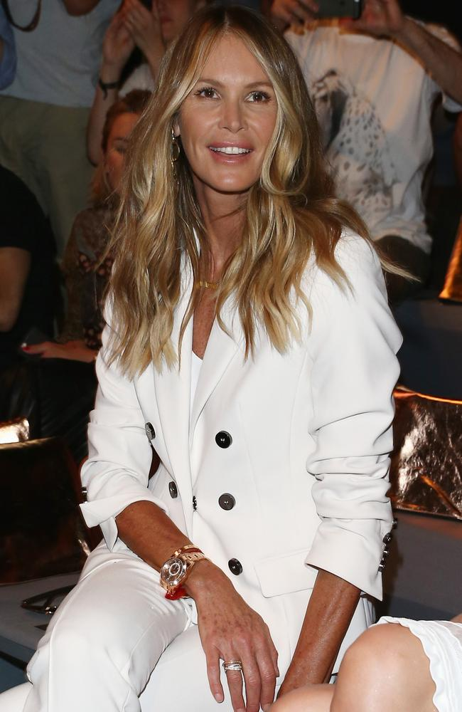 Elle Macpherson says she wasn't always comfortable in front of the camera. Picture: Getty Images for IMG
