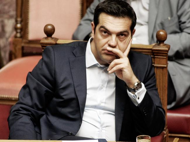 Gamble ... Greek Prime Minister Alexis Tsirpas may be forced from office if he loses the referendum. Picture: Milos Bicanski/Getty Images