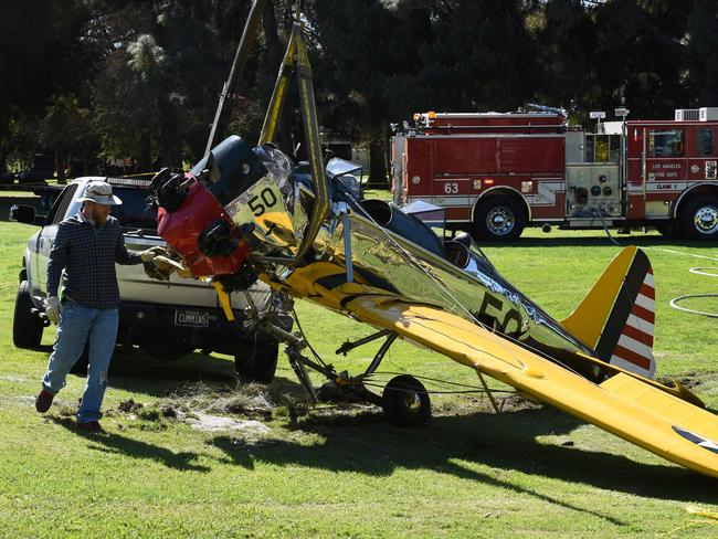 Ford's vintage plane crashed on a Santa Monica golf course in 2015.