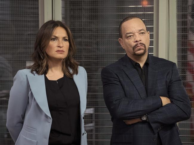 Ice-T (pictured with Mariska Hargitay) as Detective Fin Tutuola.