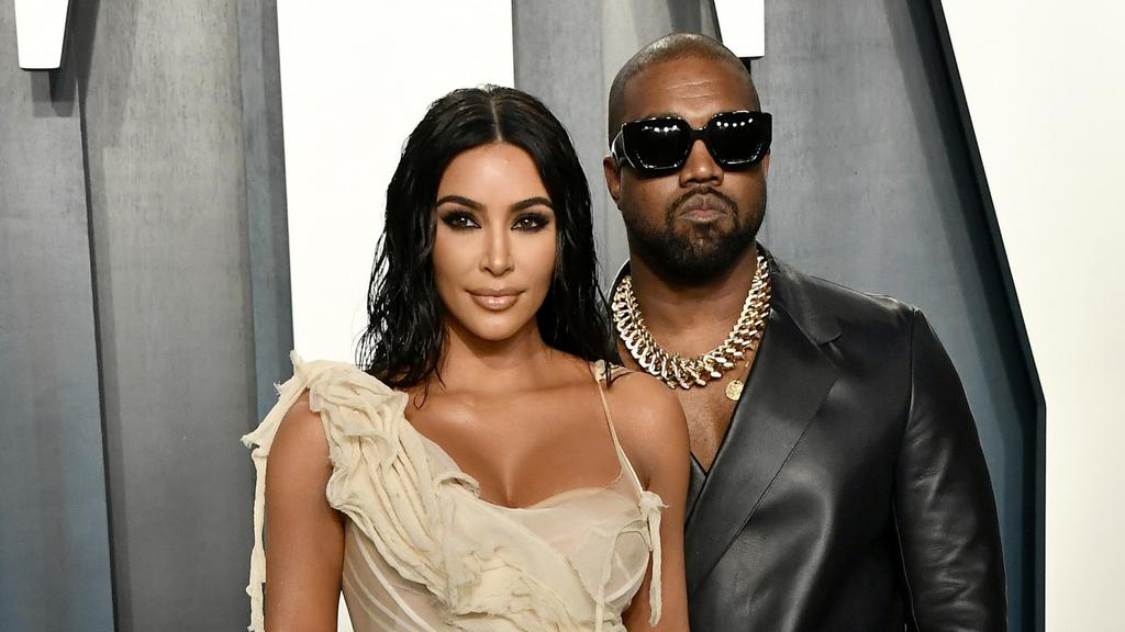 Kim Kardashian and Kanye West at the 2020 Vanity Fair Oscar Party. Picture: Frazer Harrison/Getty Images