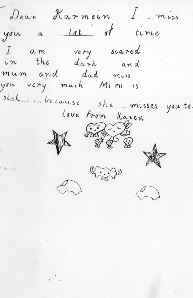 A letter to the late Karmein Chan from her younger sister, Karen.