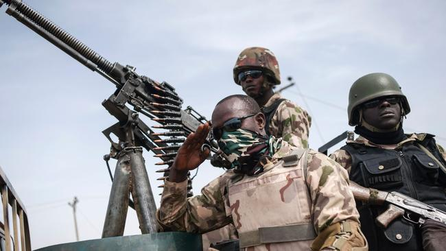 Nigerian soldiers have been waging war with the country's Boko Haram group.