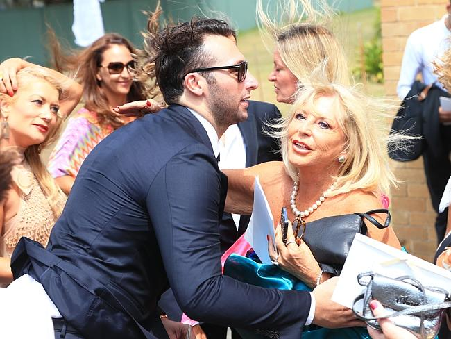 Ian Thorpe arrives at Tahyna Tozzi wedding last weekend.
