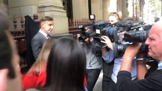 RAW: Sarah Ristevski leaves Melbourne court