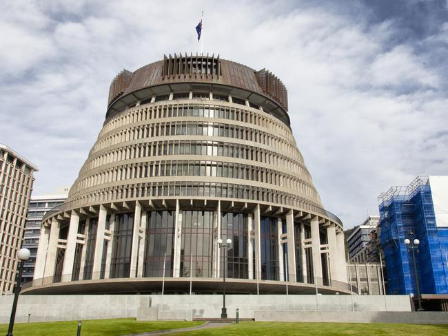 The Beehive wing of the parliament building in the New Zealand capital, Wellington.