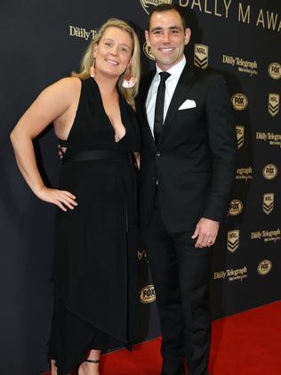 Cameron Smith and wife Barbara. Picture: Jonathan Ng